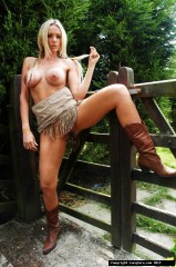 Lucy Zara Galleries. Wearing Boots Having Fun Outdoors