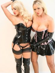 UK Models Lucy and Danni Play Domination With Crop and PVC